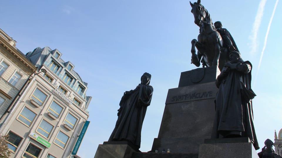 The statue of St. Wenceslas on Wenceslas Square by Josef Václav Myslbek,  photo: Barbora Němcová