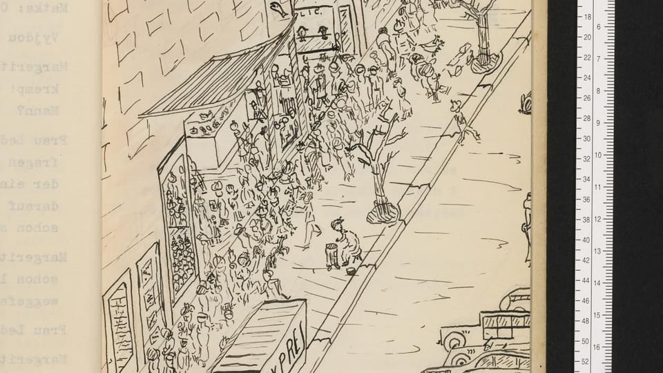 Illustration by 13-year-old Martin Wels,  photo: archive of Wels family