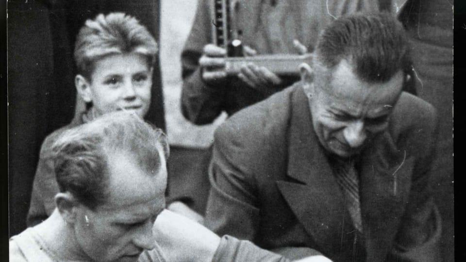 Emil Zátopek,  Josef Laufer,  around 1955   Foto: e-Sbírky,  National Museum,  CC BY 4.0