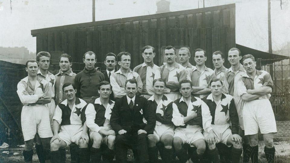 Josef Laufer with Slavia Praha,  1923   Photo: e-Sbírky,  National Museum,  CC BY 4.0
