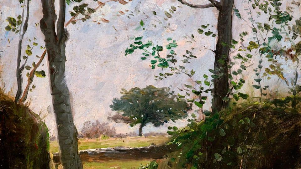 Václav Brožík,  'The edge of the wood',  source: public domain