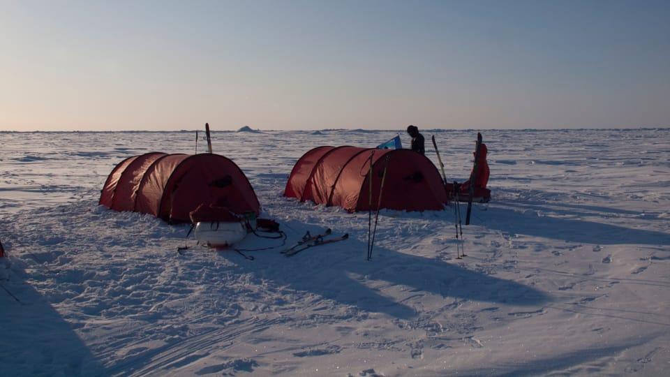 Camp on the way,  North Pole,  photo: Archive of Zdeněk Chvoj