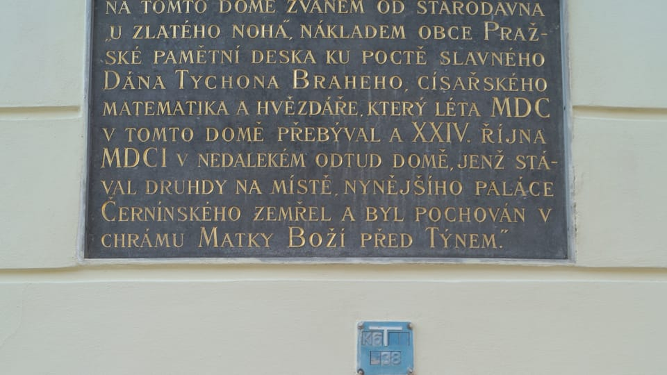 """Tycho Brahe lived at one time in the house """"At the Golden Roc"""",  photo: Czech - Radio - Radio Prague International"""