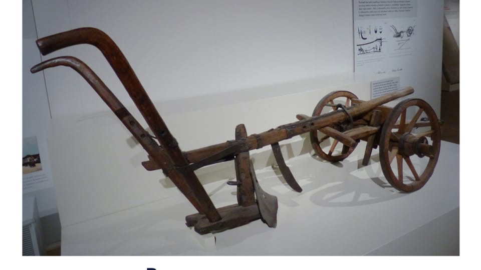 The Veverka cousins' Ruchadlo – an agricultural plow from 1827,  photo: Radio Prague International