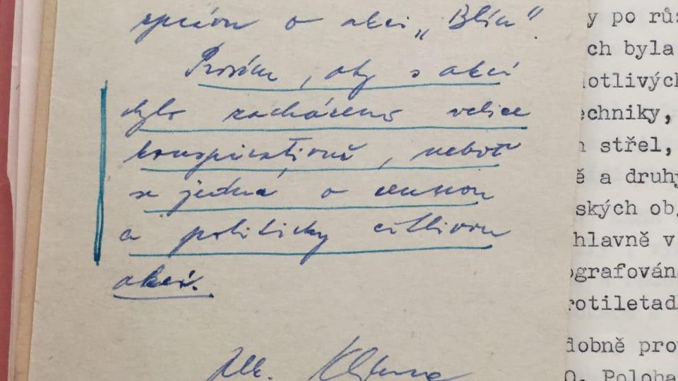 Photo: Security Services Archive,  fund of Deputy Minister Colonel Jaroslav Klíma,  A7,  Inv. Nr. 480