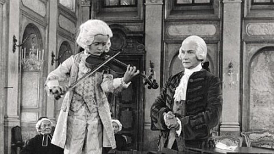 Miroslav Sekera as young Mozart in Amadeus