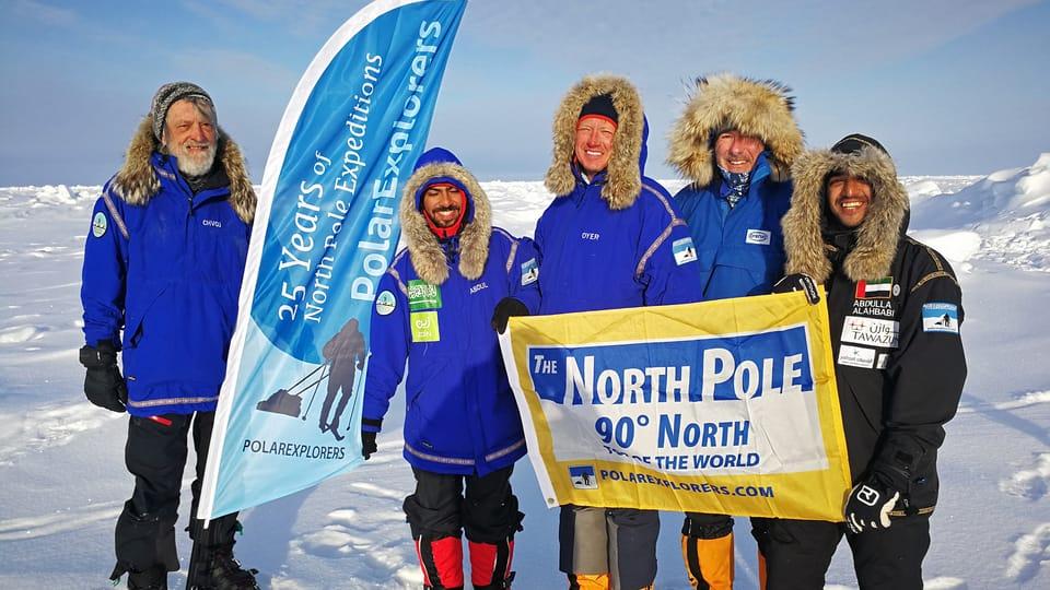 Team of Zdeněk Chvoj reached North Pole,  photo: Archive of Zdeněk Chvoj
