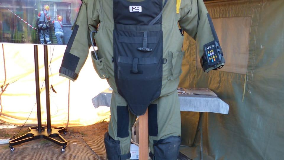 Safety and anti-chemical weapons suits,  photo: Klára Stejskalová