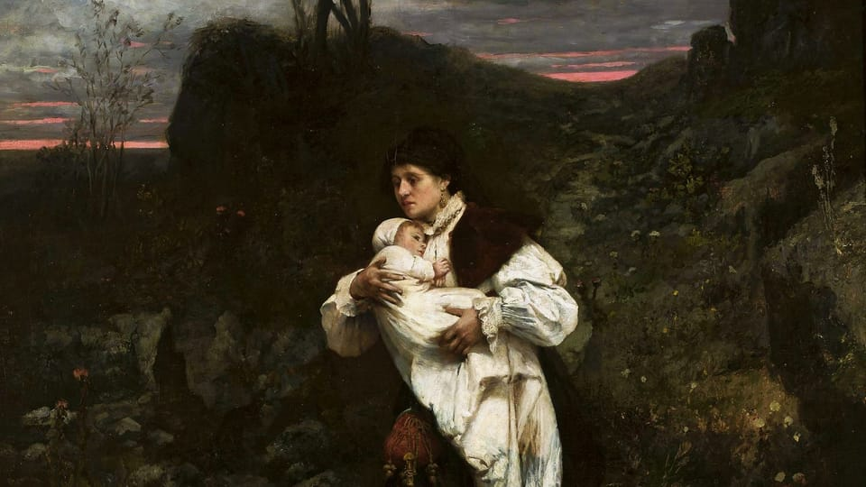 Václav Brožik,  'Woman with the child',  source: National museum of Warsaw