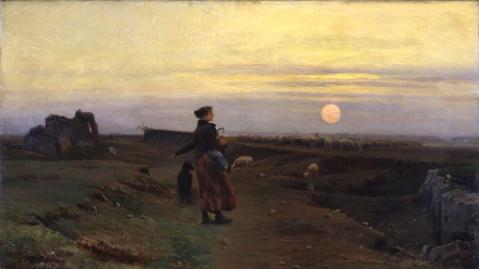 Václav Brožík,  'A Breton landscape with the herd girl',  source: public domain