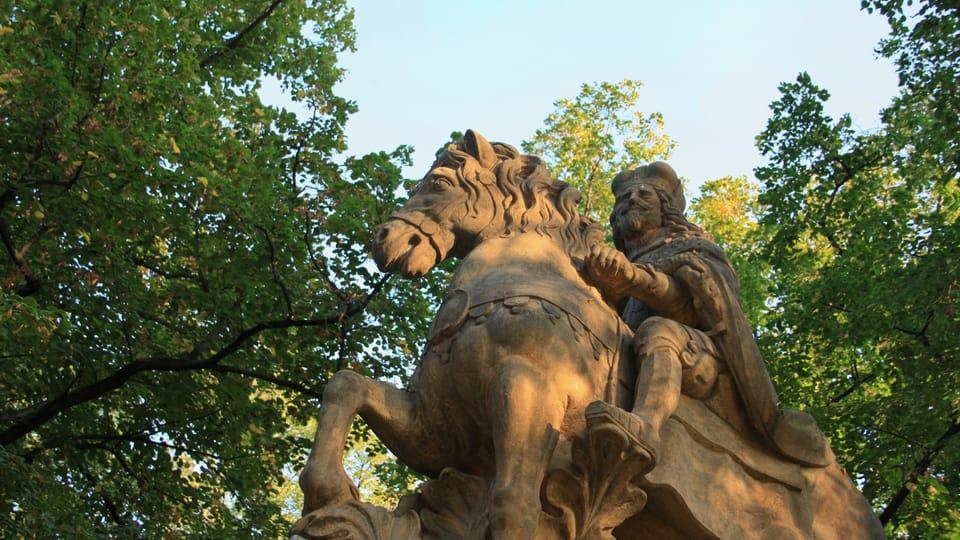 It is one of three depictions of St. Wenceslas in Prague by sculptor Jan Jiří Bendl,  photo: Barbora Němcová