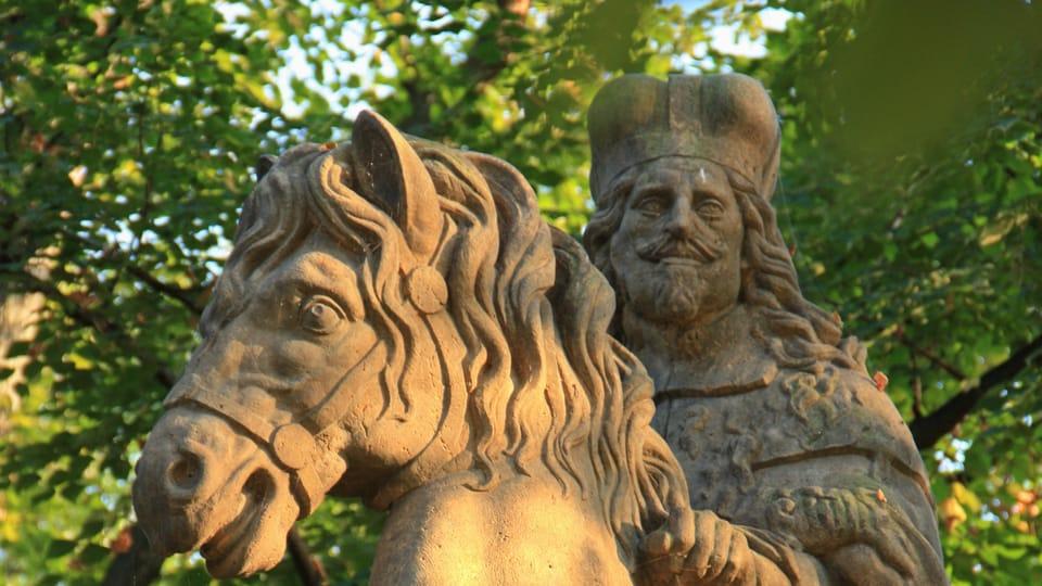The saint bears the face of Habsburg Emperor Ferdinand III,  whose likeness inspired Bendl,  photo: Barbora Němcová