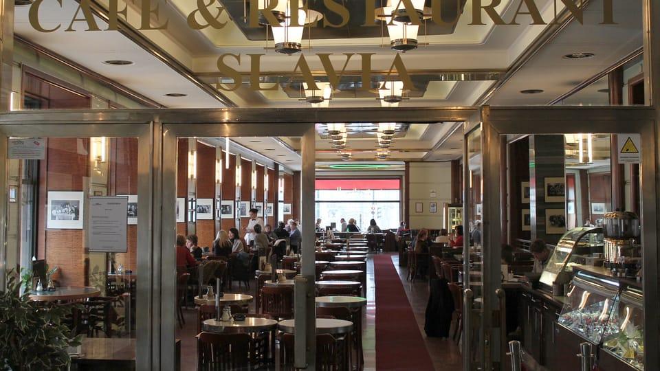 Café Slavia,  photo: Ondřej Tomšů