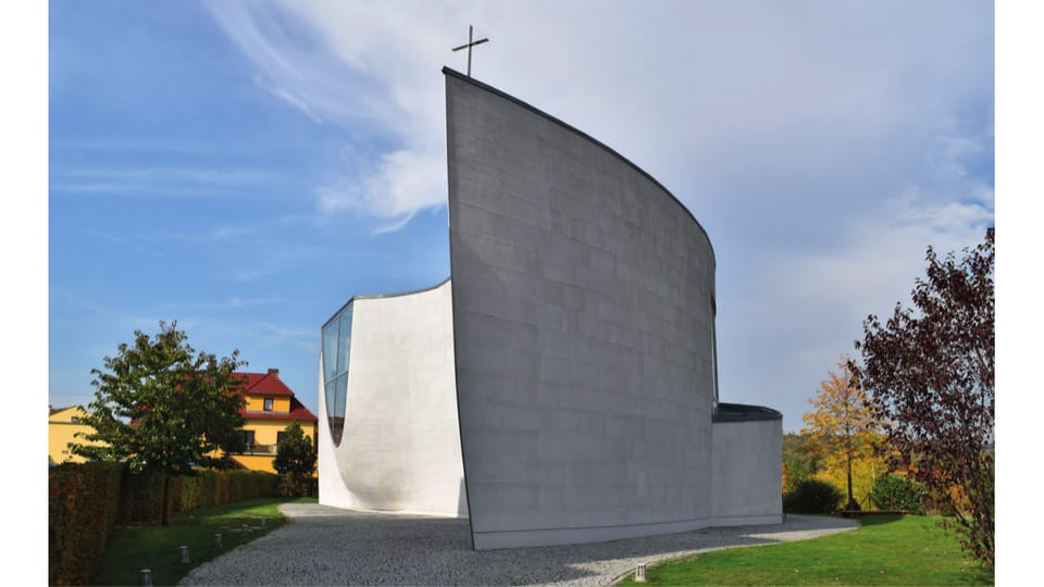 Církev Bratrská church,  Černošice,  2010,  Architect: Zdeněk Fránek,  photo: Ondřej Tomšů