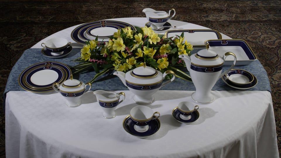 Contemporary dining set,  photo: © Prague Castle collection,  Lány chateau,  Jan Gloc