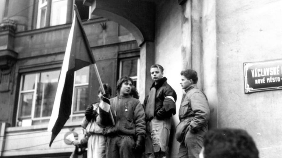 One of the demonstrations on Wenceslas Square during Velvet Revolution,  photo: Bedřich Kaas