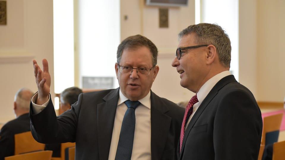 David Meron,  Lubomír Zaorálek,  photo: Ondřej Tomšů