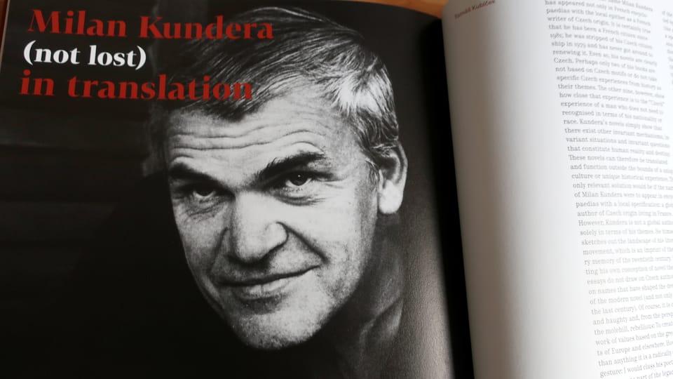 Repro photo: Milan Kundera  (neztracen) v překladech - Moravská zemská knihovna