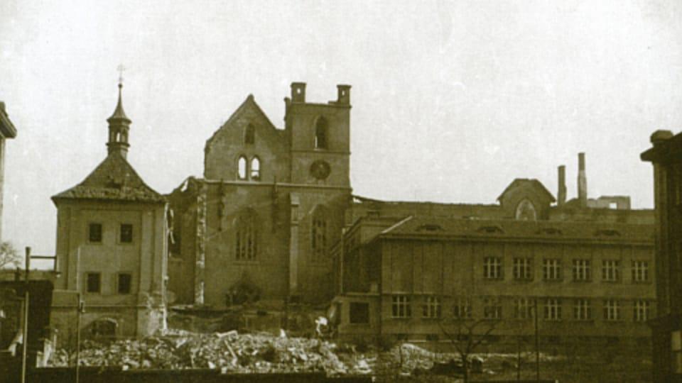 Emauzy Church,  Prague,  February 1945