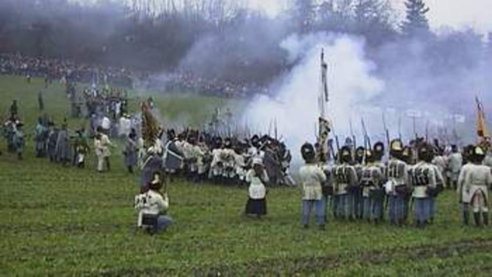 The re-enactment of the Battle of Slavkov