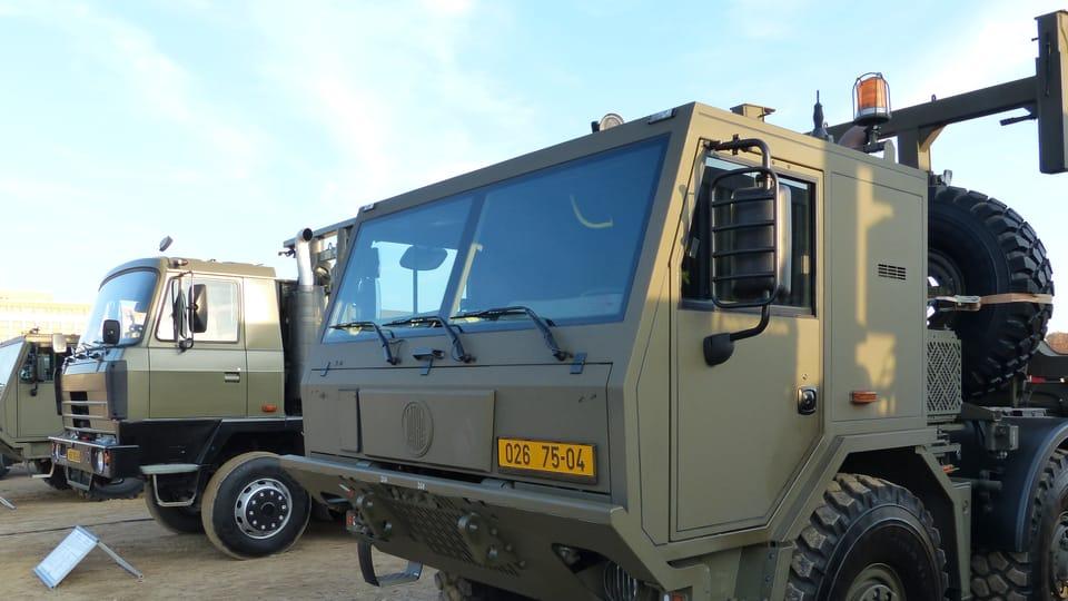 """Tatra military """"trucks"""" are the backbone of the military,  photo: Klára Stejskalová"""