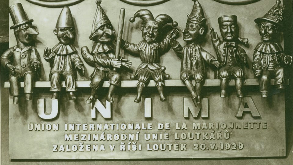 A memorial of founding the UNIMA at Realm of Puppets Theater,  Prague,  photo: Ivana Krennerová / Chrudim Puppetry Museum