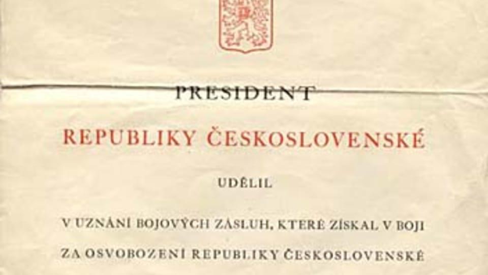 Award for the Czechoslovakian Military Cross