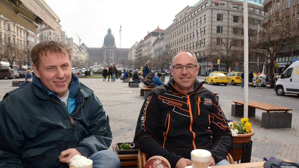 Enjoying the scenery at Wenceslas Square,  photo: archive of Nirvana Systems