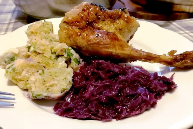 Duck with dumplings and cabbage, photo: archive of Radio Prague