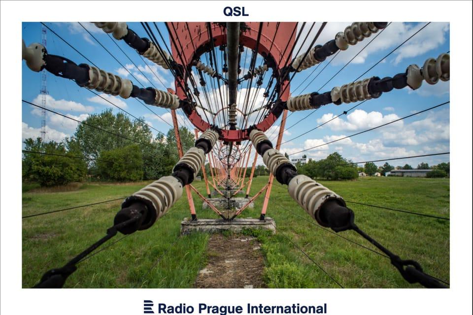 Topolná transmitter,  technical detail of power line,  photo: Andrea Filičková