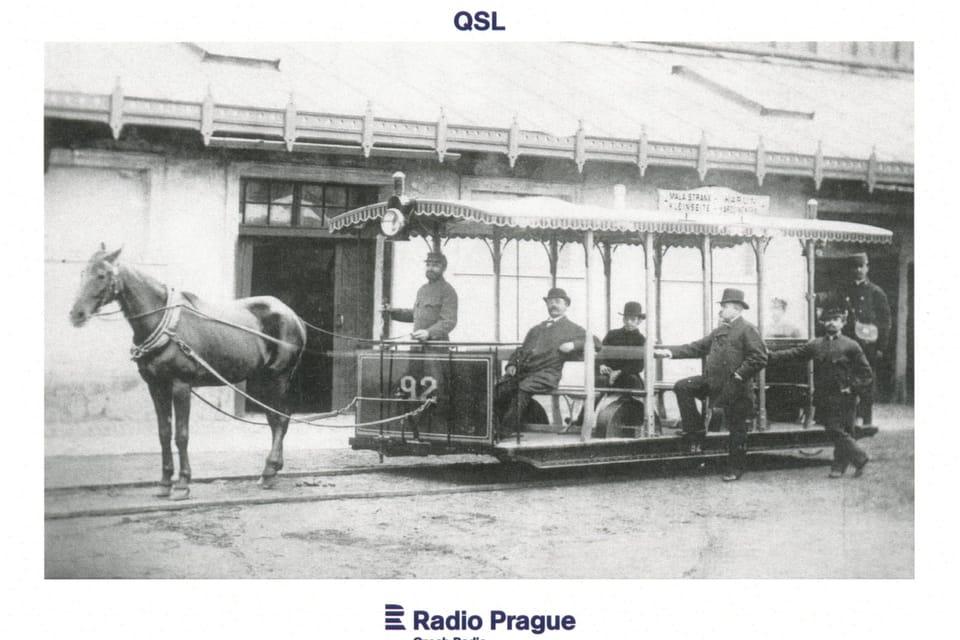 Prague horse-drawn tram – in operation from 1875,  photo: Dopravní podnik hlavního města Prahy