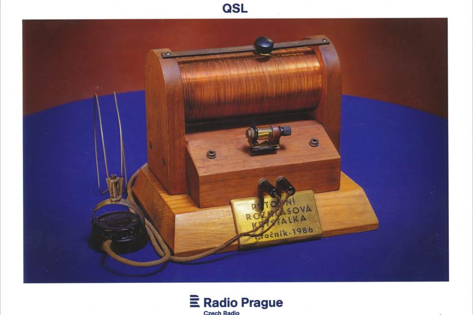 Crystal radio - one of the first radio receivers,  photo: Khalil Baalbaki