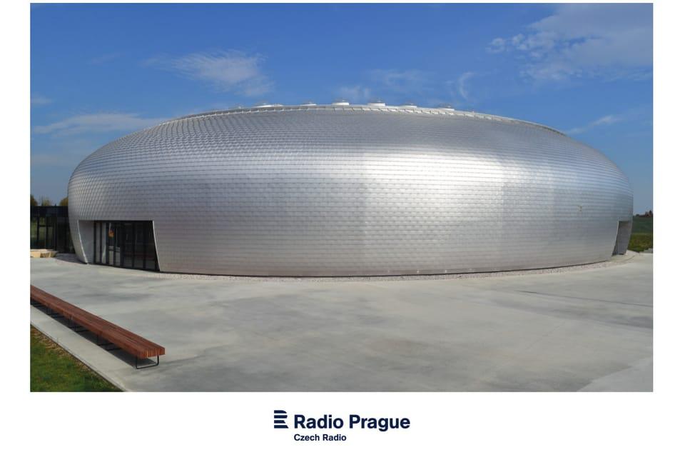 Sports hall,  Dolní Břežany,  2017,  Architects: SPORADICAL - Aleš Kubalík,  Josef Kocián,  Jakub Našinec,  Veronika Sávová,  photo: Ondřej Tomšů