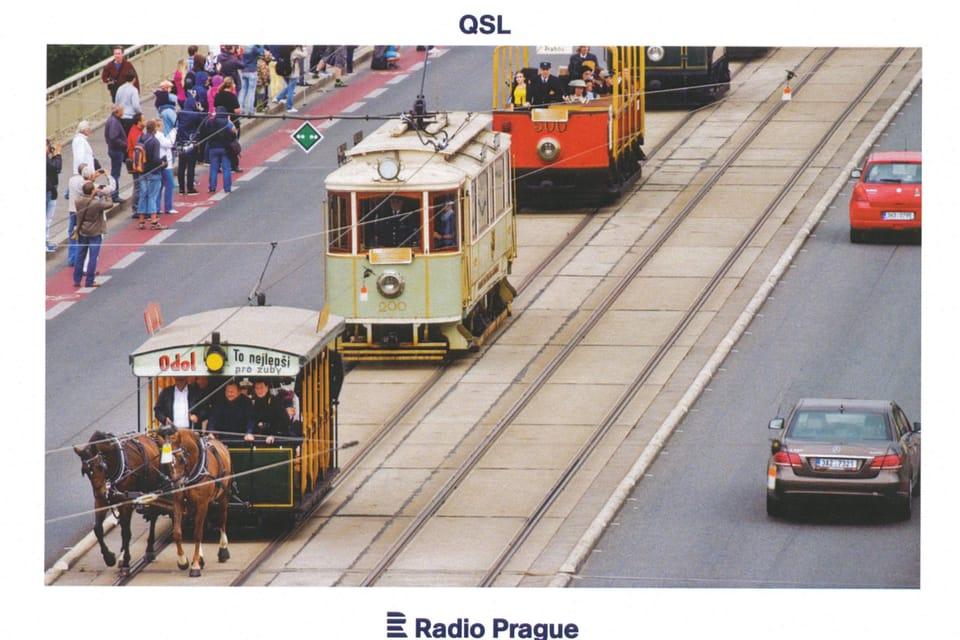 Ceremonial procession of historical trams,  photo: ČTK,  Vít Šimánek